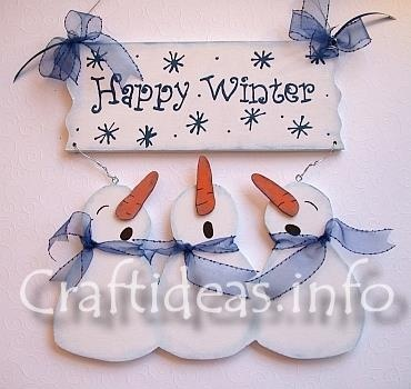 happy winter snowman sign and other holiday wood crafts