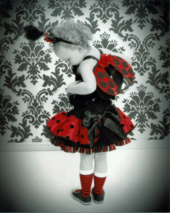 If only my girls were that little again! They'd wear this everyday, not just Halloween! ladybugs