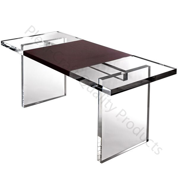Leather Wrap Slab Desk