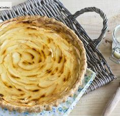 Tarta de manzana y leche condensada. Receta