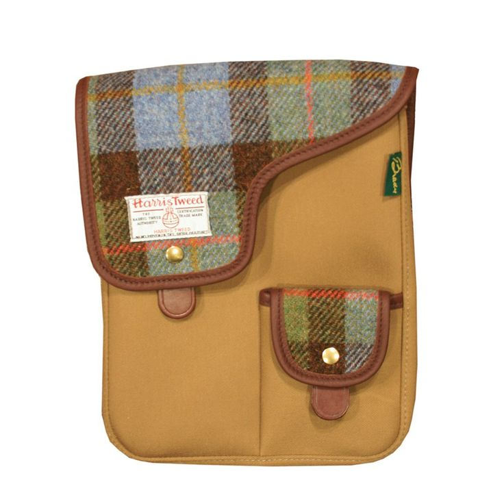Brady Bags  X Stuarts London Dyce Harris Tweed iPad Bag 8RDYCKBT