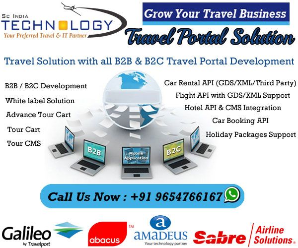 Travel Portal Development with GDS API Integration (Flight + Hotel + Car + Tour Packages) in very affordable price. more detail visit now - http://www.travelportalsolution.com