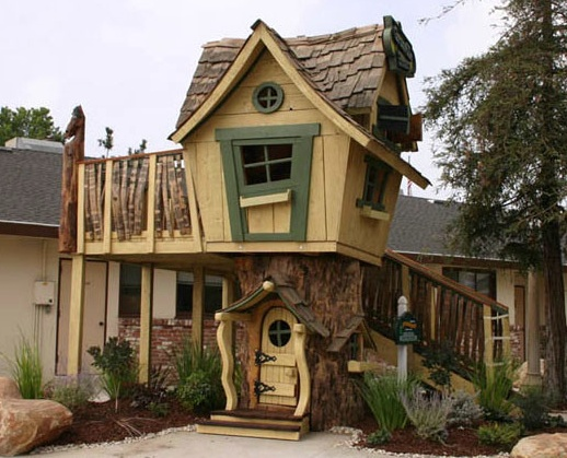 Crooked cottage playhouse hunter pinterest cottages for Awesome playhouse plans