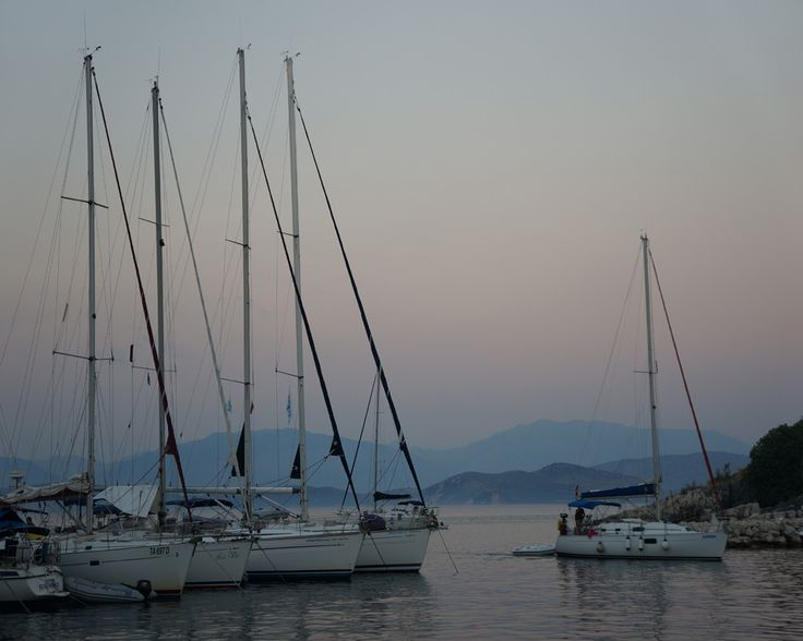 We loved watching the sailing boats come in after sunset in Kassiopi harbour.
