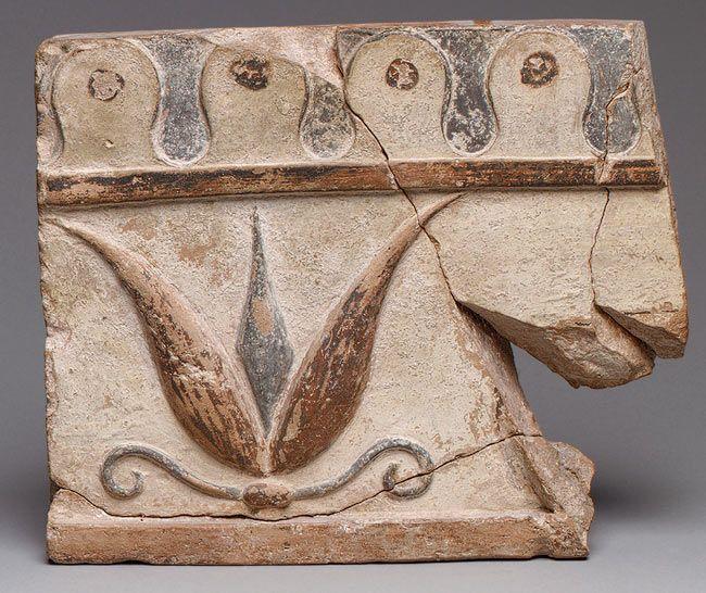 Architectural tile fragment [Greek, Lydian; Excavated at Sardis] (26.164.1) | Heilbrunn Timeline of Art History | The Metropolitan Museum of Art