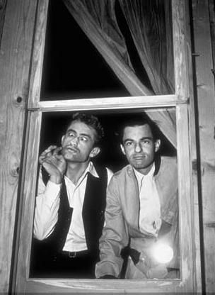James Dean and Leonard Rosenman goofing around