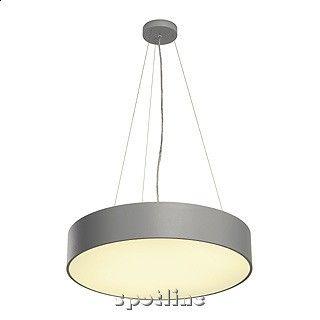 SPOTLINE 133804 MEDO PRO 60, lampa sufitowa, okrągła, srebrno-szara, 2xT5 24W, 2xTC-L 24W