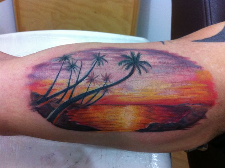 sunset beach tattoo tattoo 39 s i like pinterest circles beaches and sunset tattoos. Black Bedroom Furniture Sets. Home Design Ideas
