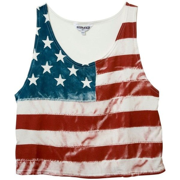 Teens Vintage American Flag Crop Top ($13) ❤ liked on Polyvore featuring tops, shirts, tank tops, blusas, american flag crop top, vintage american flag shirt, american flag tank, american flag shirt and vintage tank