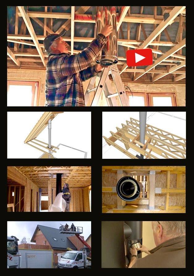 Vidéo : installer un poêle à bois et un conduit de fumée dans une maison passive à ossature bois