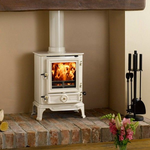 Stovax Brunel 1A Ivory Multi Fuel Stove