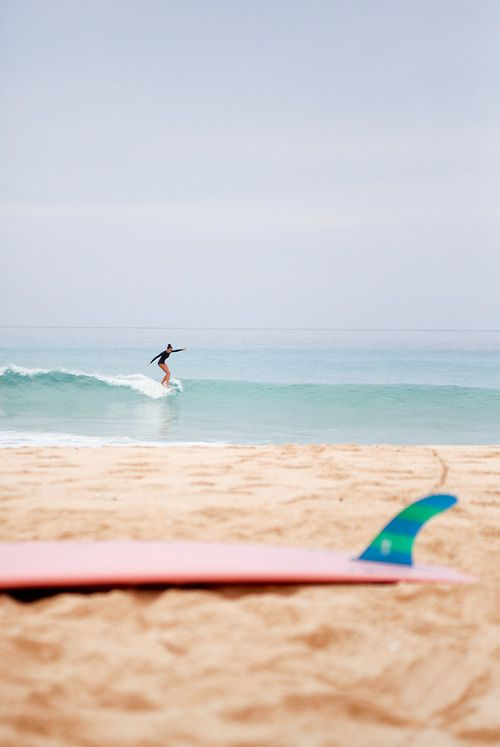 surfing at the beach!
