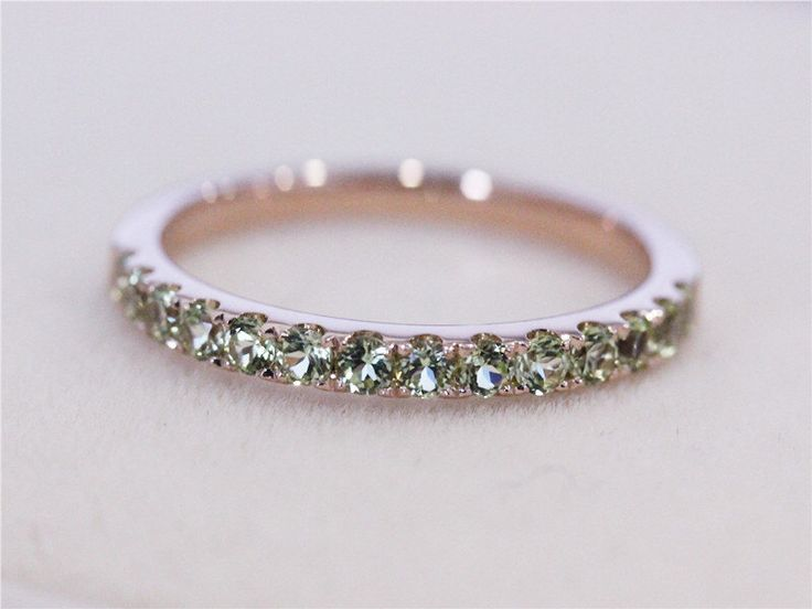 VS Natural Peridot Ring Pave 14K Rose Gold Round Cut Peridot Jewelry Wedding Ring Engagement Ring 2mm Wedding Band Birthstone Ring by AbbyandWills on Etsy https://www.etsy.com/listing/217264826/vs-natural-peridot-ring-pave-14k-rose