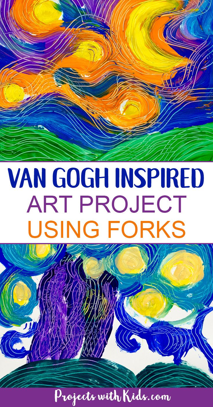 Paint A Stunning Van Gogh Masterpiece Using Forks Van Gogh For