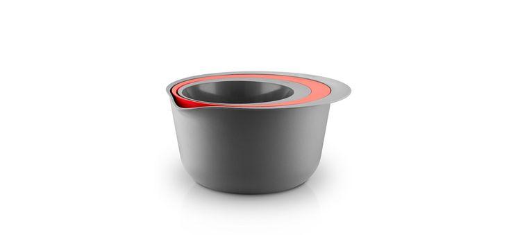 Bowl/colander set - Grey/flame - 530435