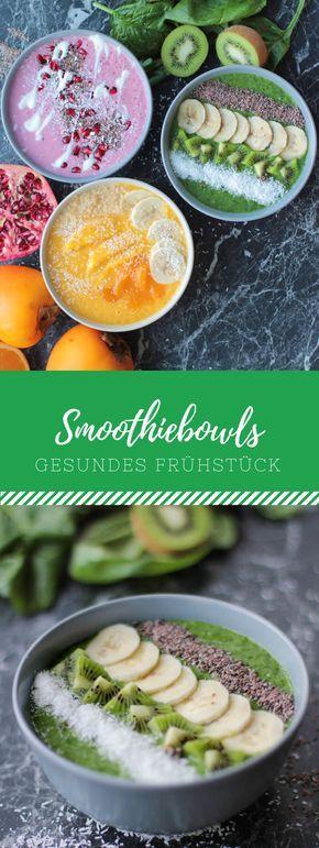 Die absolute Vitamin-Power bekommst du mit diesen leckeren Smoothie Bowls zum Frühstück! Ich zeige dir drei Rezept für deinen guten Start in den Tag.