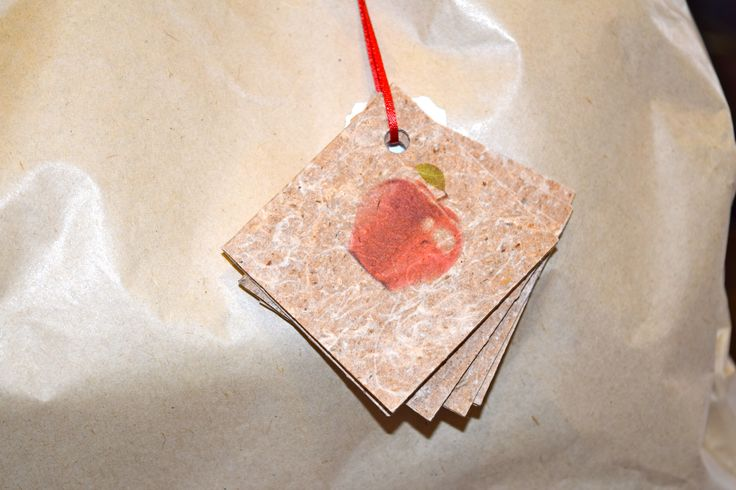 Handmade gift tags from Tasmania... Recycled from apple pulp! 4 tags per set $2.50 per set