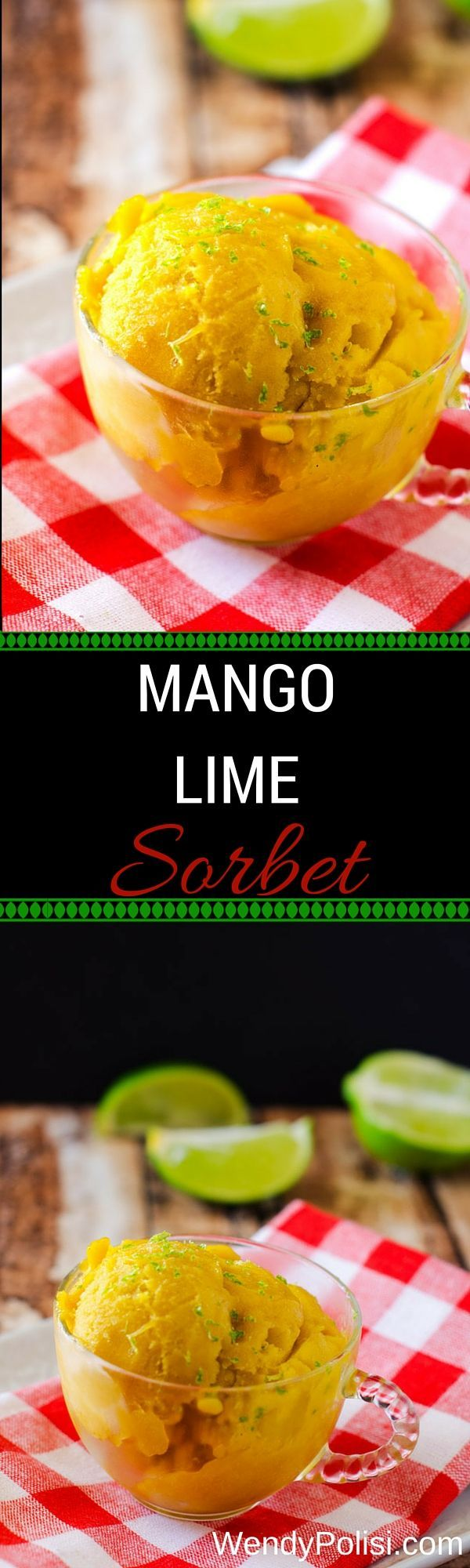 Mango Lime Sorbet - This healthy dessert is delicious and so easy to make!  A great way to get started cooking with essential oils.