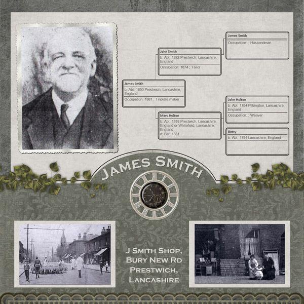 James Smith ~ heritage family tree page.