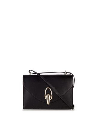 Rhynos mini black leather bag Sale - Giorgio Armani Sale