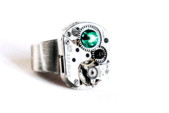 Steampunk BDSM men's Jewelry Ring jeweled Soviet от SteampunkBDSM