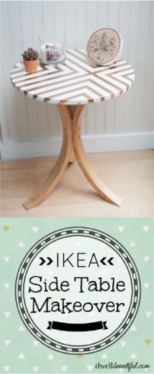 An easy and budget-friendly makeover to an Ikea side table for a trendy and stylish accent piece! | Dwell Beautiful