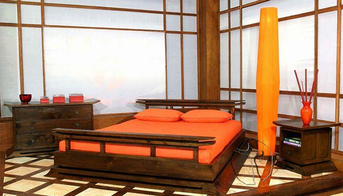 Спальня в японском стидле