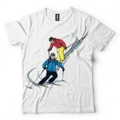 Koszulka Narciarstwo- Koszulki i bluzy 3D, T-shirty, tshirty, koszulki 3D z nadrukiem, koszulki damskie, koszulki męskie, koszulka, koszulki - Tulzo