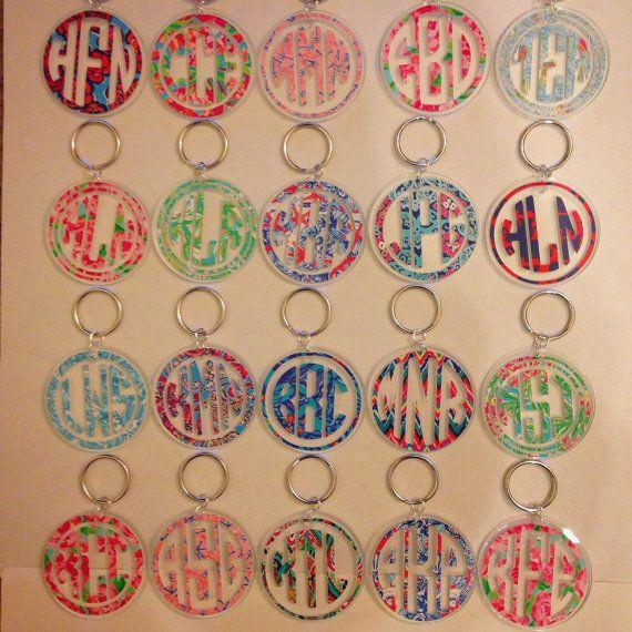 Lilly Pulitzer Inspired Monogram Keychain by MagicalMonograms, $8.00 *yougotta regatta*