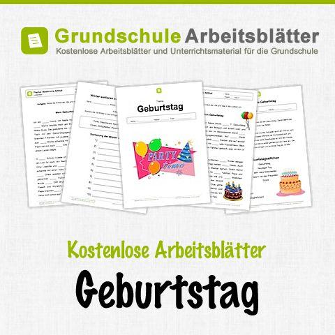 Kostenlose Arbeitsblätter und Unterrichtsmaterial zum Thema Geburtstag in der Grundschule.