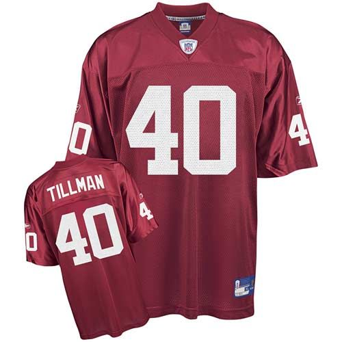 Authentic Pat Tillman Arizona Cardinals Throwback NFL Jersey Sale - Men's Reebok #40 Red Home