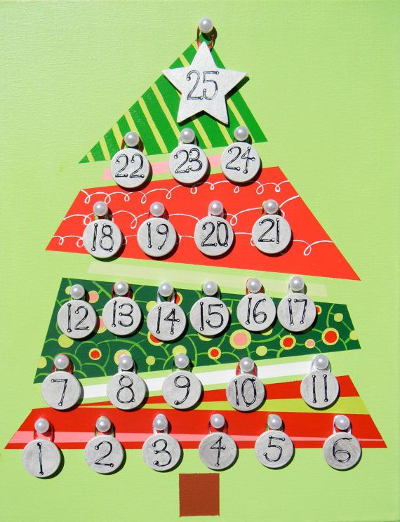 Countdown To Christmas Craft Ideas Part - 50: Countdown Christmas Tree Advent Calendar
