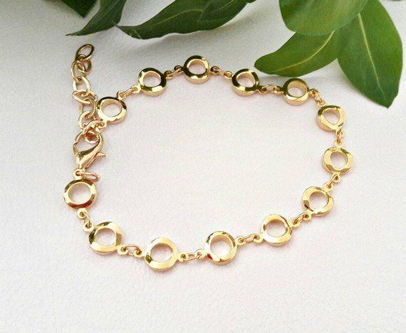 Gold Chain Bracelet Gold Chain Link Bracelet Women Gold Bracelet