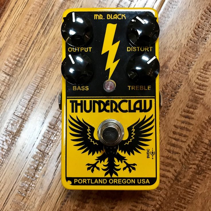 Mr. Black Thunderclaw Distortion Pedal - Preowned