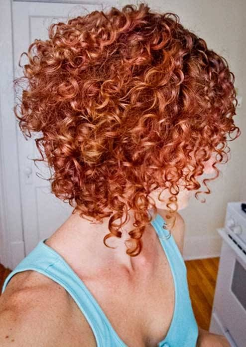 Gorgeous short curly hair. This was my most recent cut.