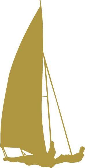 Sailboat Racing vinyl decal car sticker