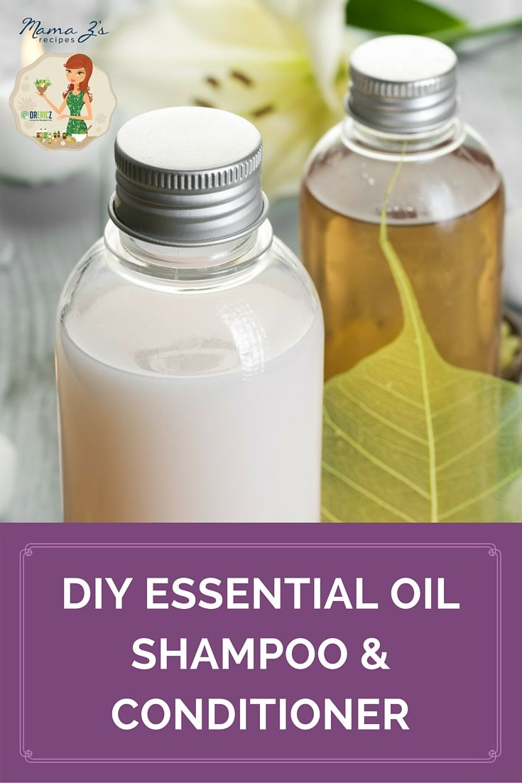 Keep you hair smooth, silky, and shiny with this DIY Essential Oil Shampoo and Conditioner