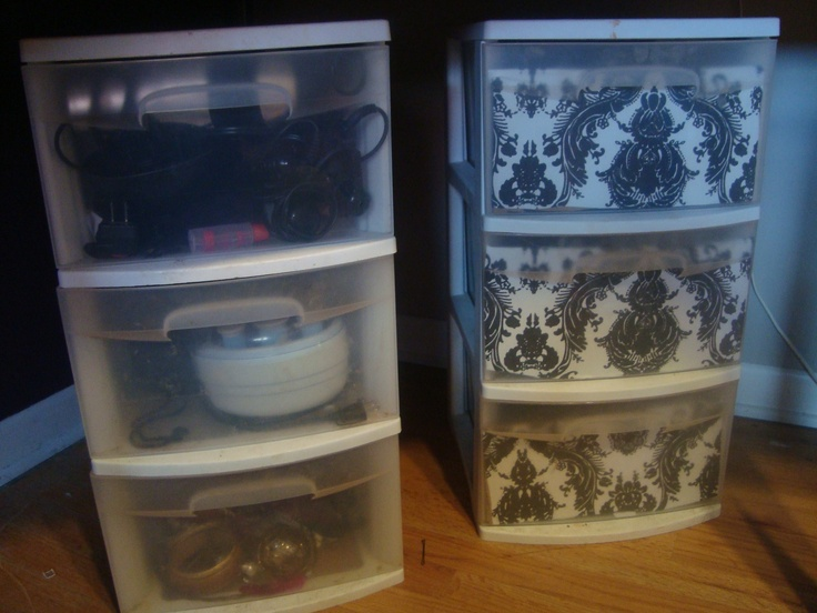 DIY MAKEUP STORAGE      Totally easy to do and WHAT A DIFFERENCE - now no one has to see the messy junk inside my storage bins!