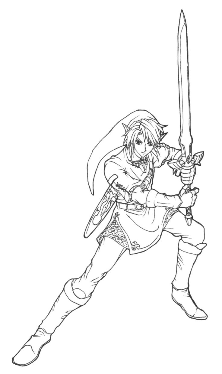 106 best images about lineart zelda link on pinterest - Coloriage link ...
