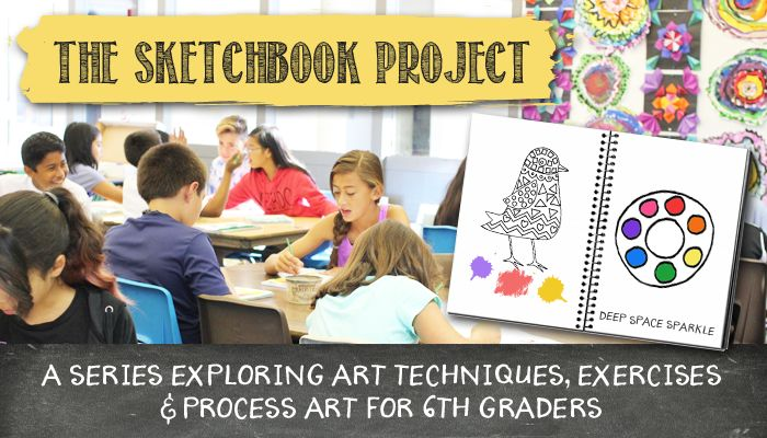 A series exploring art techniques, exercises & process art for 6th grade