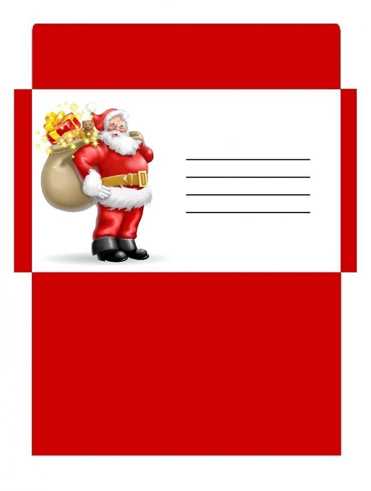 Enveloppe Noël personnalisée et colorée à imprimer
