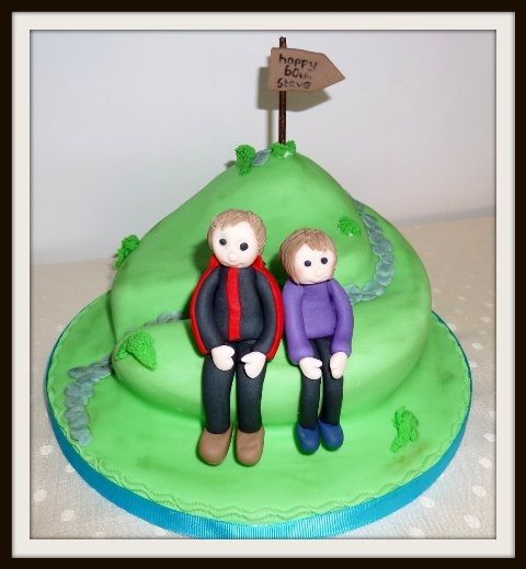 Hikers birthday cake