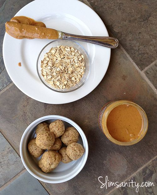 Vanilla Peanut Butter Energy Bites - pack in extra protein and healthy fats with this delicious on-the-go snack   slimsanity.com