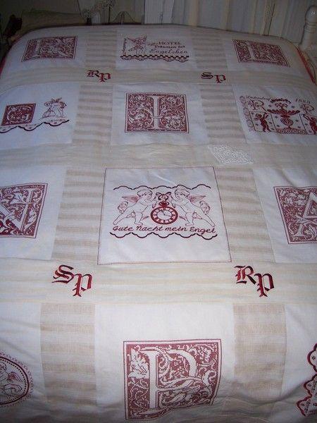 Vintage Wohntextilien - Kreuzstich-Bettwäsche, Shabby Chic, Vintage - ein Designerstück von ChabbyChic1889 bei DaWanda
