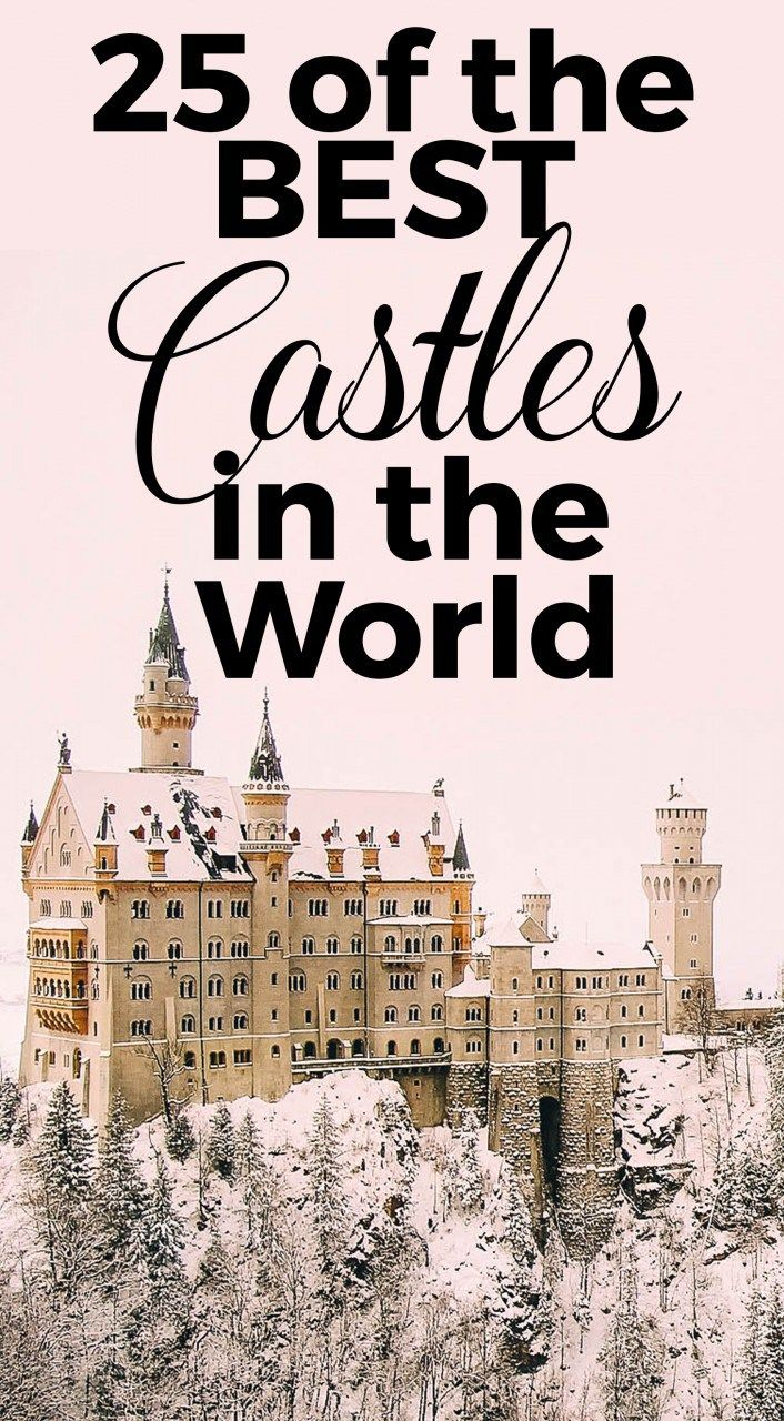"""25 of the Best Castles in the world. The world is an astounding place. Sometimes it's hard to imagine what life was like """"back then,"""" but once you step foot in a castle, that all changes. I can't believe these fortresses are still around today and that we can actually step inside and pretend to relive Beauty and the Beast or Cinderella. We …"""