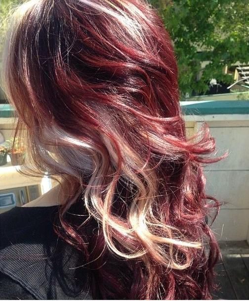 Wine Red and Blonde - Hair Colors Ideas