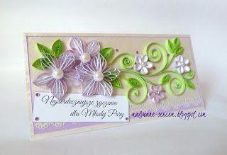 Moje Kreacje - blog Grażyny: Delikatnie na ślub / Wedding Card