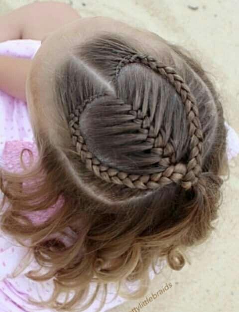 Coração de tranças lindos! #penteadoinfantil