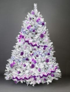 Sapin De Noel Blanc Et Violet Deco Sapin De Noel Pinterest