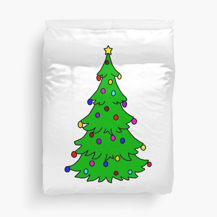 This Christmas tree design duvet cover will brighten up any room and make it feel more like Christmas.